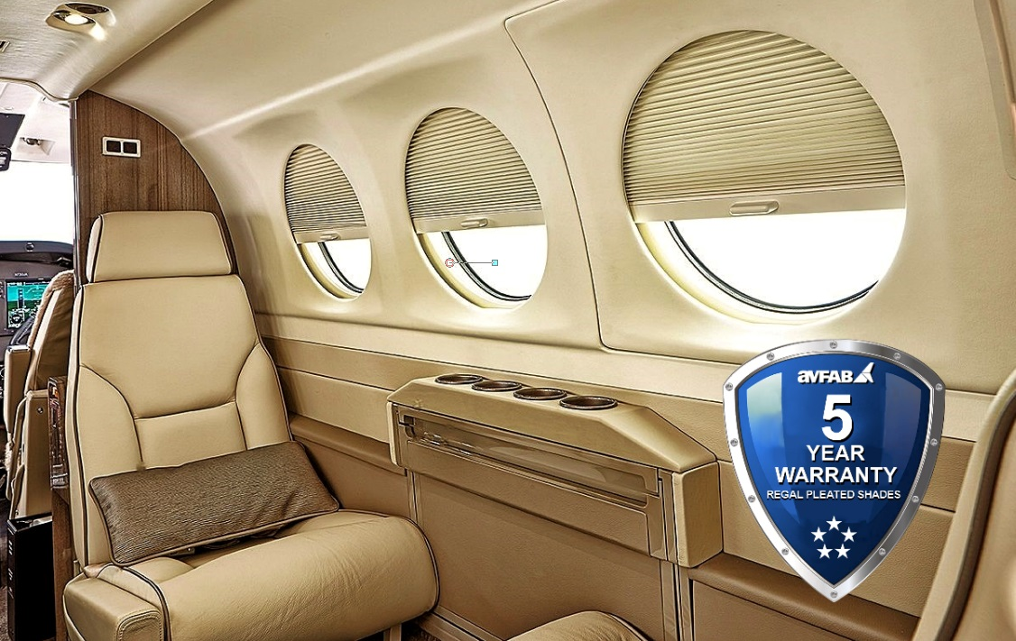 King Air 300/350 Pleated Window Shades!