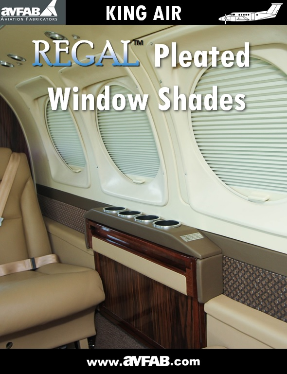 King Air Regal Pleated Window Shades