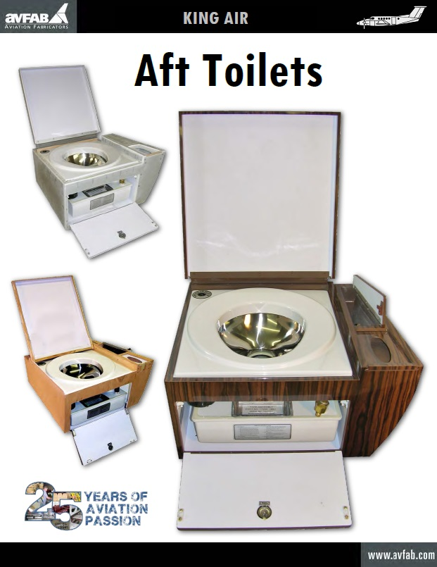 King Air Toilet Seat Aviation Fabricators