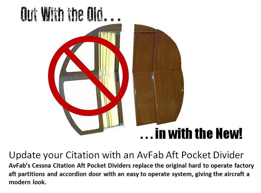 Citation Aft Pocket Divider