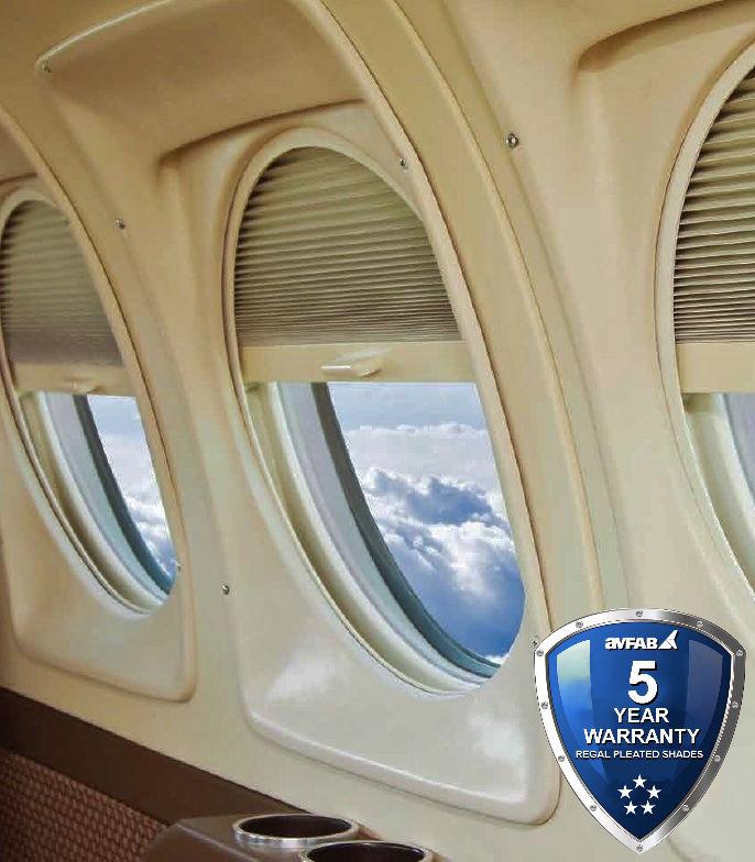 King Air Regal Pleated Window Shades, 90 & 200 Series