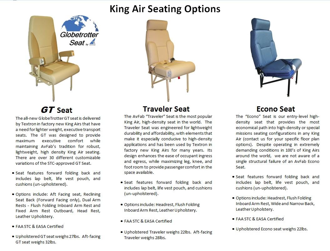 Cool King Air Seat Chart Aviation Fabricators Download Free Architecture Designs Scobabritishbridgeorg