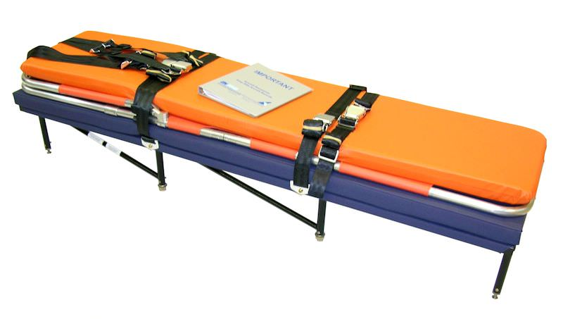 King Air 350i Medical Stretcher kit includes stretcher unit and cover, Ferno model 12-C portable aero (folding) litter, mattress, mattress cover (conforms to FAR 23.853 horizontal flame test), restraint system, installation instructions, and weight and bal