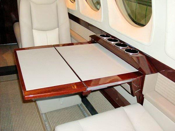 King Air 200 Arm Ledge Table System