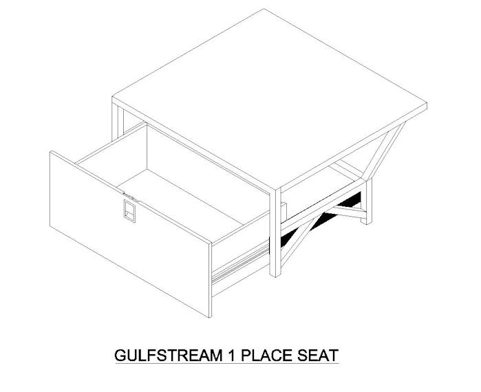 "Nothing transforms a Gulfstream interior like a side-facing divan!  Divans provide an open, comfortable atmosphere and in many cases, allow you to accommodate additional passengers.  1 Place Divan, 21.75"" length. Side-facing divan kits can be mounted"