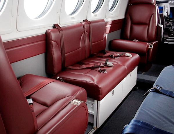 Nothing transforms a King Air interior like a side-facing divan!  Our 2-Place King Air Divan is also popular for medical attendant and Special Missions applications.  In many cases, 32-0152 will allow you to accommodate additional passengers. Our 2-place d