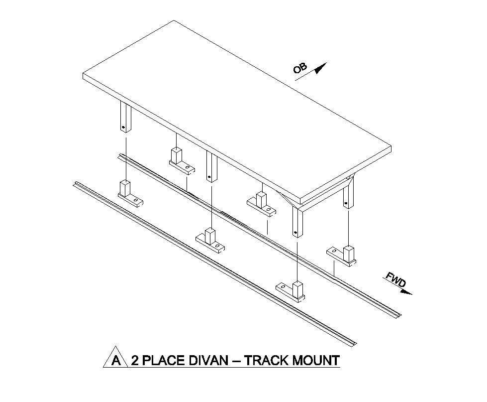 Fairchild 2 Place Divan, Track Mount