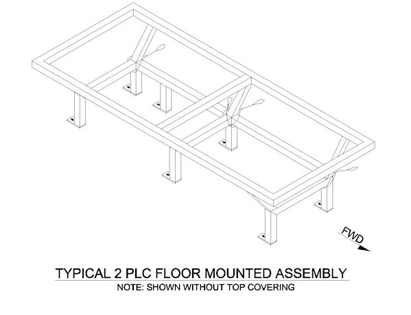 Fairchild 2 Place Divan, Floor Mount