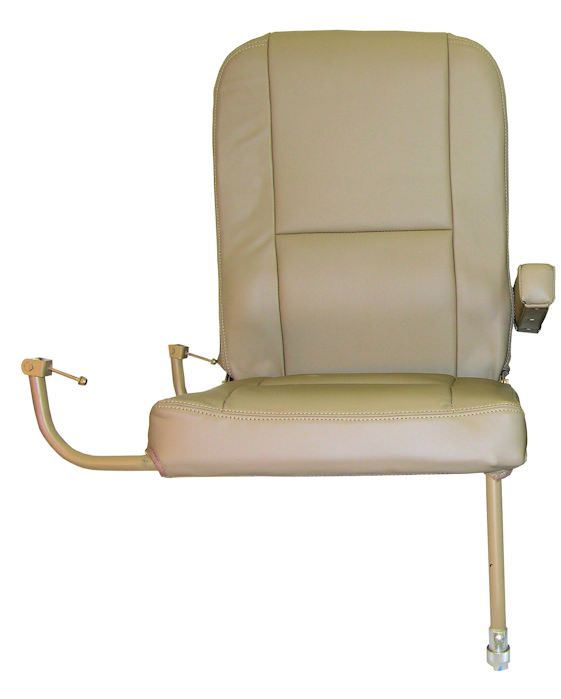 "Is your King Air RH Aft Jump Seat missing or damaged? AvFab has the solution! Our replacement Aft RH Jump Seat is perfect for airframes that already have the OEM or AvFab Aft Jump Seat Kit hardware installed.  Delivered in ""green"" condition, without uphols"