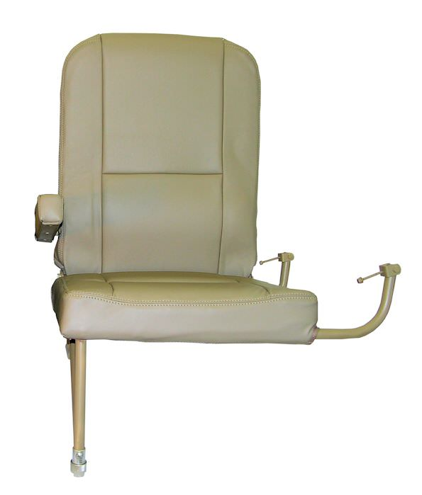 "Is your King Air LH Aft Jump Seat missing or damaged? AvFab has the solution! Our replacement Aft LH Jump Seat is perfect for airframes that already have the OEM or AvFab Aft Jump Seat Kit hardware installed.  Delivered in ""green"" condition, without uphols"