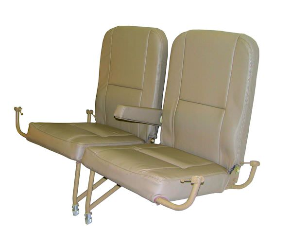 Our King Air aft jump seats are interchangeable with the OEM jump seats, and our lead time is typically less than 2 weeks! You can utilize the existing OEM installation hardware if aircraft is so equipped. If aircraft has not been previously equipped with an installation kit, our kit may be purchased to facilitate the installation process. Kit is complete and includes seats, occupant restraint system, attachment feet, oxygen drop down system, overhead lights, overhead vents, and installation instructions, etc., and is delivered in �green� condition, without upholstery.