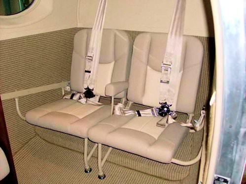 King Air Aft Jump Seats Kit, Dual