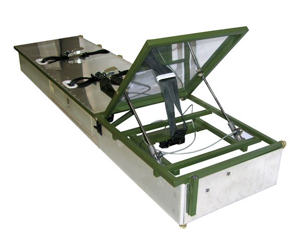 AvFab's versatile Stretcher Divan allows you to increase the utility and functionality of your Hawker jet with a 3-place Divan that converts to a Stretcher.  This allows you the option of carrying either passengers or a patient on the same divan. This conv