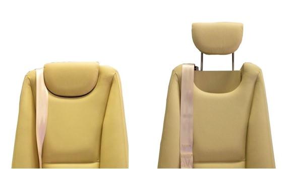 King Air Headrest - Clear View Hidden