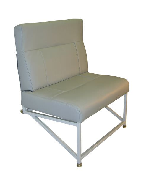 One place side facing divan seat for Beechcraft 1900 Series.  Installation kit comes complete with 1-Place Divan, Restraint system, and tie-down fittings.