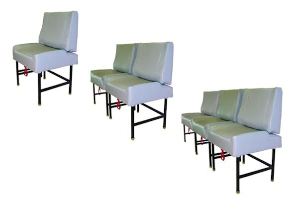 AvFab's one place King Air side facing divan is extremely versatile. Can be installed alone or several can be placed alongside each other.  Divans provide an modern, open and comfortable atmosphere.  In many cases, this will allow you to accommodate additi