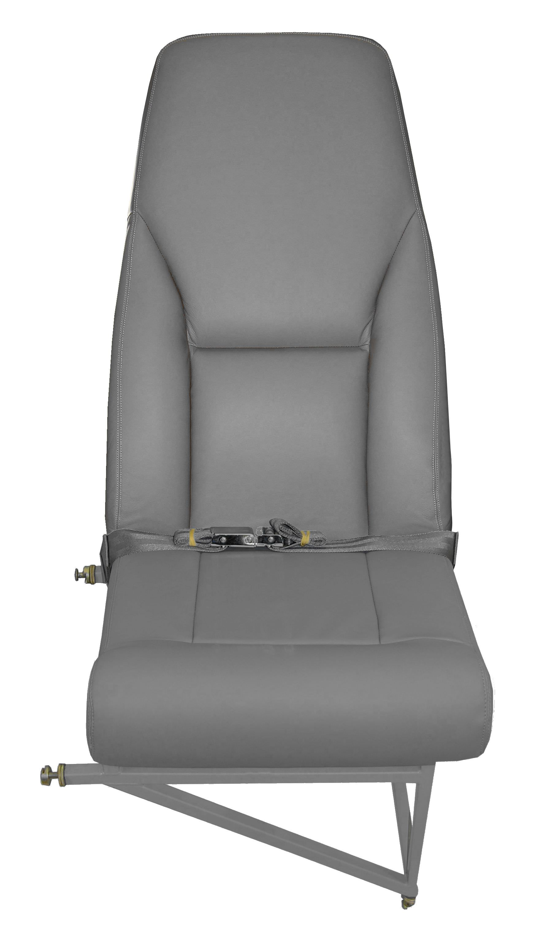 AvFab's Beechcraft 1900 series high density seat has been engineered for comfort, durability and affordability. It was designed to enhance the ease of occupants ingress and egress, by increasing leg, knee, foot room, and passenger comfort. It is best-suited for applications where maximum seating is desired. It is important to note that we have never had a request for a spare part or repair for any of our high density series of seats, so they are extremely robust. Seat includes lap belt, life vest pouch, and cushions (un-upholstered).