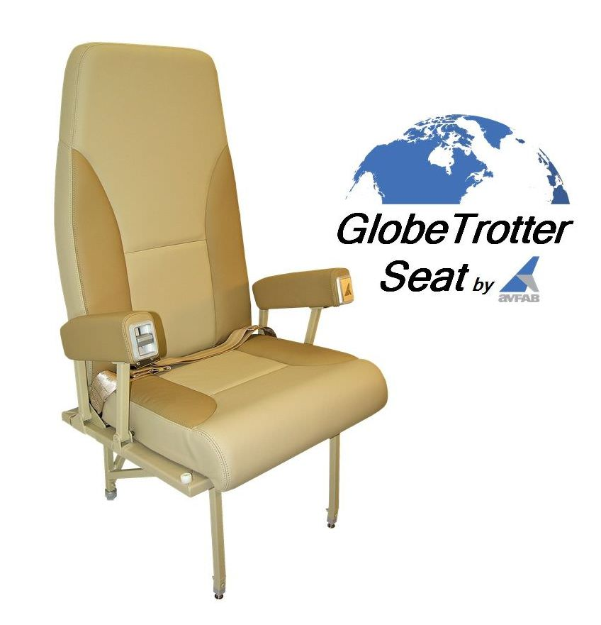The Globetrotter GT is designed for maximum passenger comfort and durability in high density VIP executive and commuter King Air floor plans. Using 9 pounds as the default foam and upholstery weight, the following weight estimates: