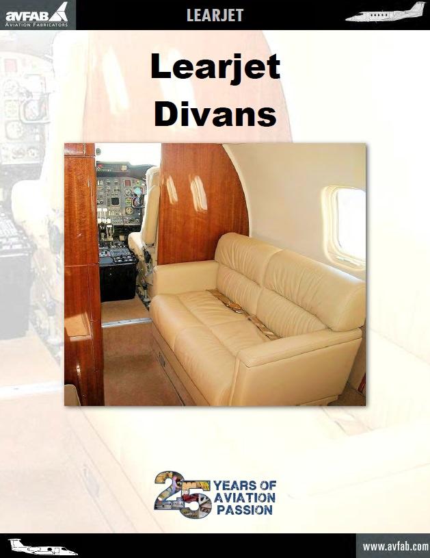 Learjet 2 Place Side Facing Divan
