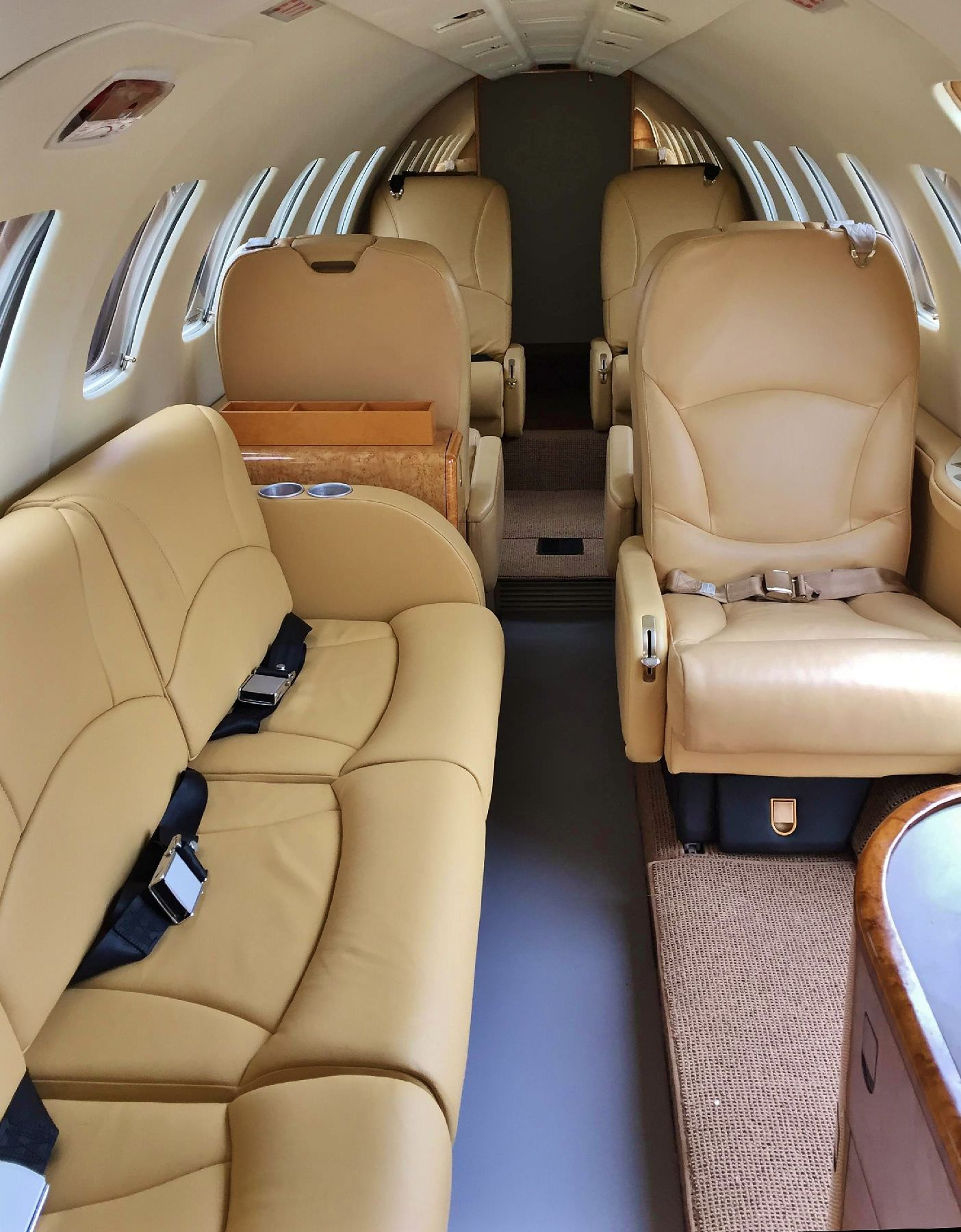 Nothing will transform your Citation cabin interior and provide a more modern, open feeling than a divan. Increase the utility and functionality of your Citation with this 3 place side facing divan.  Whether you need to add one or more passengers, open up